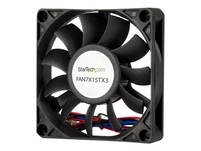 StarTech.com 70x15mm Replacement Ball Bearing Computer Case Fan w/ TX3 Connector - Case fan - 70 mm - black