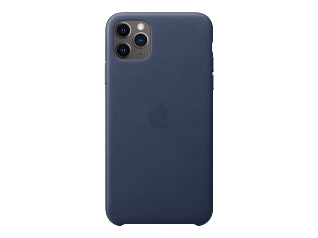 Apple - Back cover for cell phone - leather, machined aluminum - midnight blue