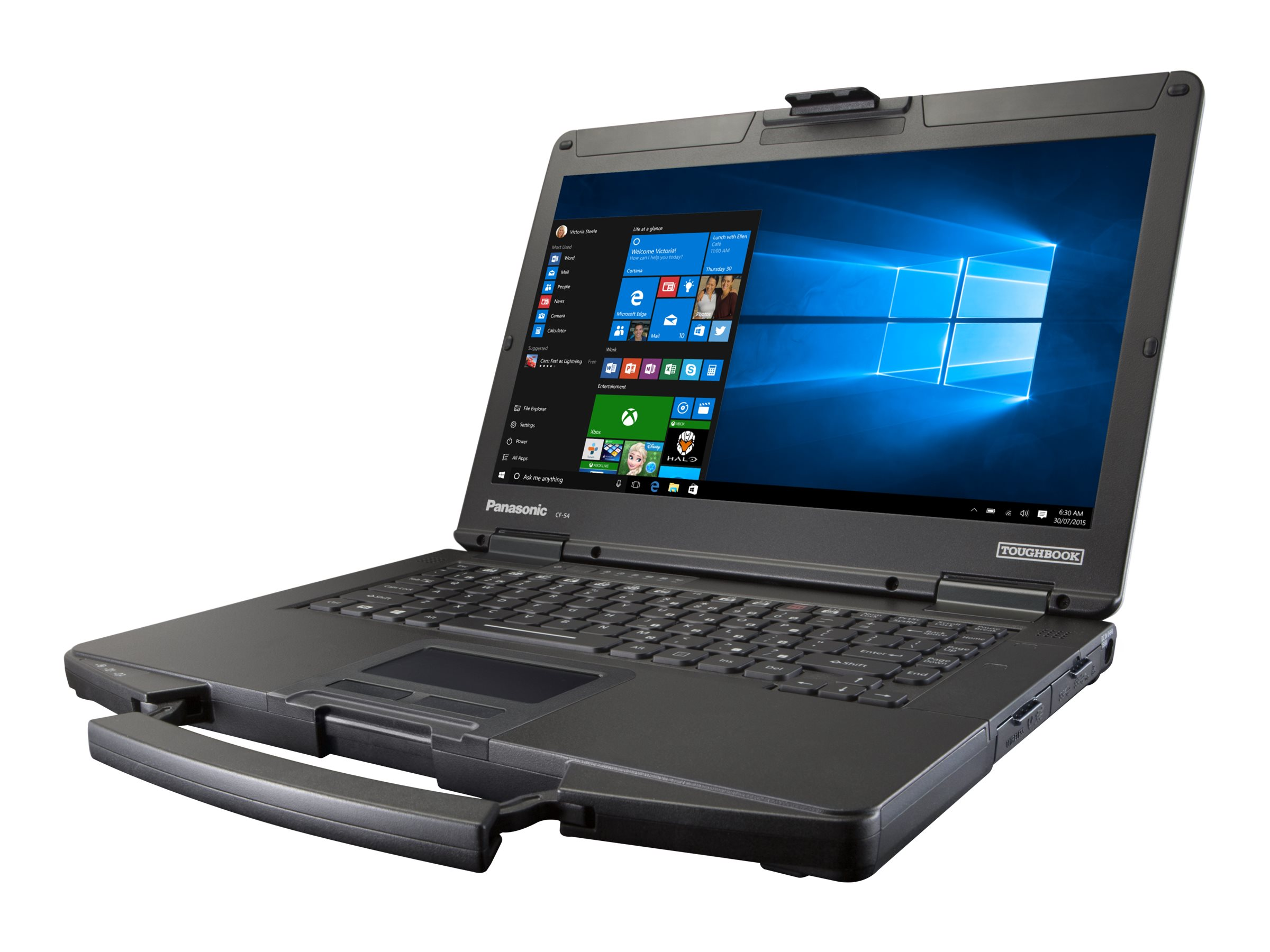 Panasonic Toughbook 54 Mid - Core i5 7300U / 2.6 GHz - Win 10 Pro - 4 GB RAM - 256 GB SSD - DVD SuperMulti