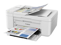 Canon PIXMA TR4551 - Imprimante multifonctions - couleur - jet d'encre - A4 (210 x 297 mm), Legal (216 x 356 mm) (original) - A4/Legal (support) - jusqu'à 8.8 ipm (impression) - 100 feuilles - 33.6 Kbits/s - USB 2.0, Wi-Fi(n) - blanc