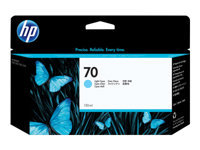HP 70 - 130 ml - light cyan - original - DesignJet - ink cartridge - for DesignJet Z2100, Z3100, Z3100ps, Z3200, Z3200ps, Z5200
