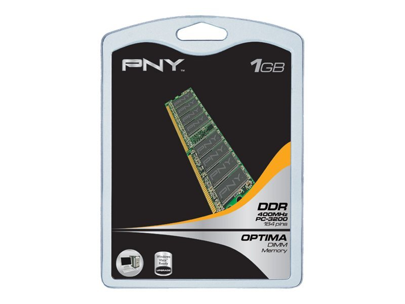 PNY - DDR - 1 GB - DIMM 184-PIN - 400 MHz / PC3200 - ungepuffert