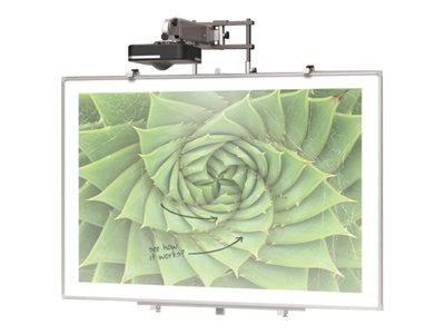 BALT Interactive Projector Board with Brio Trim Projection screen wall mountable