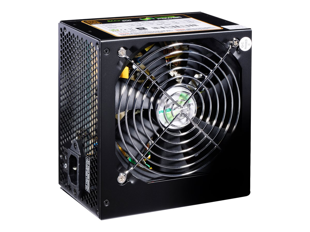 Realpower RP-850 - Stromversorgung (intern) - ATX12V 2.3 - 80 PLUS Gold - 850 Watt - aktive PFC