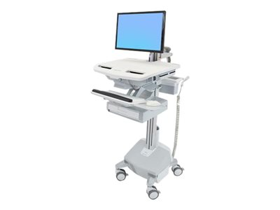 Ergotron StyleView Electric Lift Cart with LCD Arm, LiFe Powered, 1 Drawer (1x1)