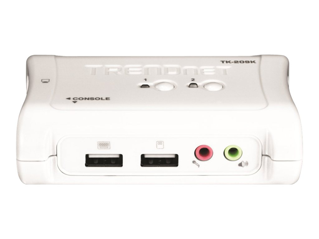 TRENDnet TK 209K - KVM-/Audio-Switch - 2 x KVM/Audio - 1 lokaler Benutzer - Desktop