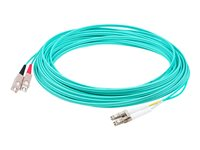 AddOn 3m LC to SC OM4 Aqua Patch Cable Patch cable SC multi-mode (M) to LC multi-mode (M)