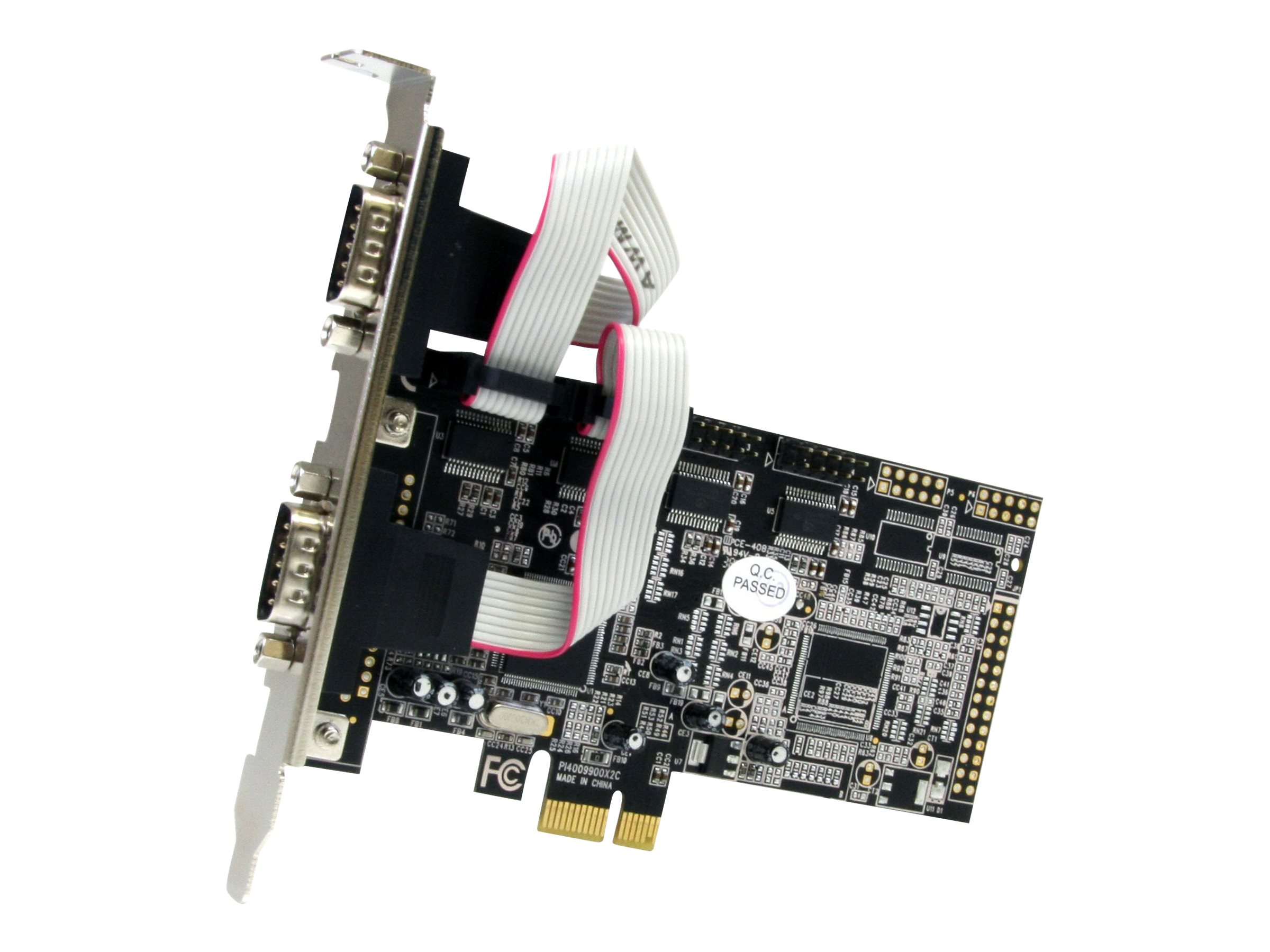 StarTech.com 4 Port Native PCI Express RS232 Serial Adapter Card with 16550 UART - Low Profile Serial Card (PEX4S553) -…