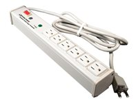 C2G 6ft Wiremold 6-Outlet Plug-In Center Unit 120v/15a Lighted Switch Computer Grade Power Strip