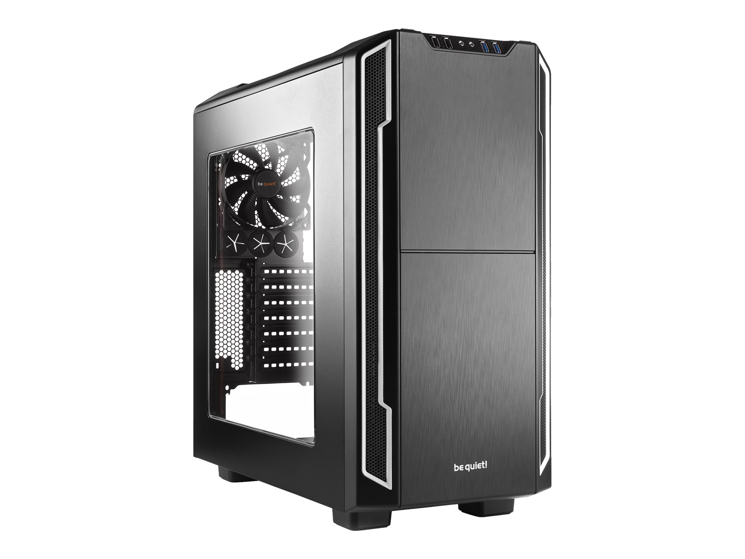 be quiet! Silent Base 600 - Window Edition - Tower - ATX - ohne Netzteil - Silber