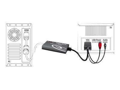 DeLOCK - Video transformer - HDMI - D-Sub - detailsalg