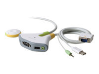 Picture of Belkin Switch2 for PC USB with Audio - KVM / audio switch - 2 ports (F1DG102UTT)