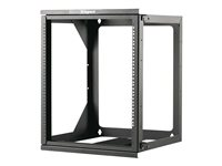 C2G 12U Hinged Wall Mount Open Frame Rack 18in Deep (TAA Compliant) Rack wall mountable