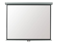 Metroplan Eyeline Electric Wall Screen - Projection screen - ceiling mountable, wall mountable - motorised - 4:3 - Matte White - cool white