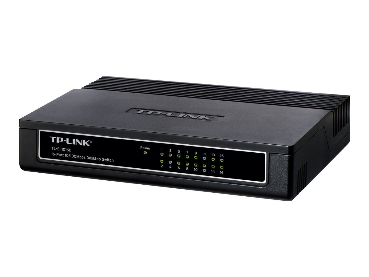 TP-LINK TL-SF1016D 16-Port 10/100Mbps Desktop Switch - Switch - 16 x 10/100 - Desktop