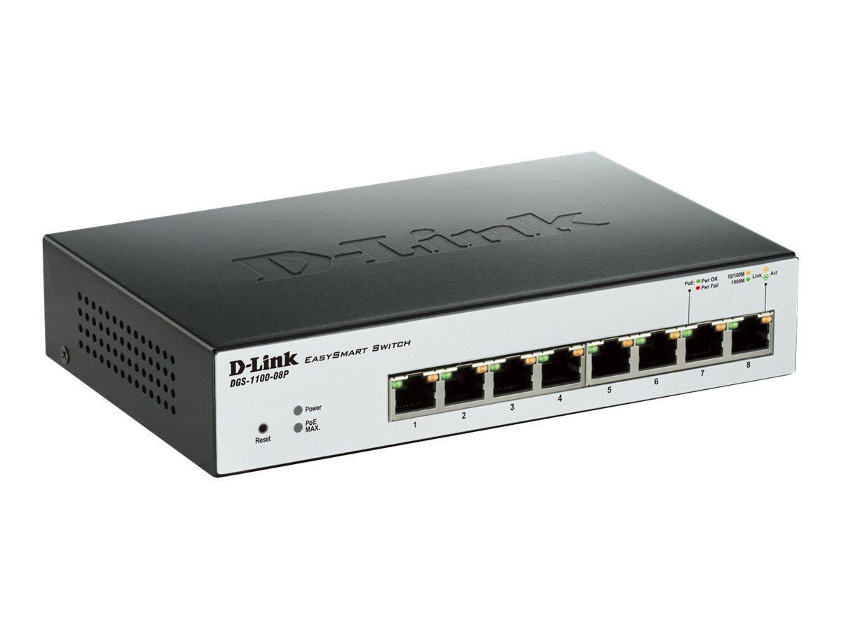 D-Link EasySmart Switch DGS-1100-08P - switch - 8 ports - managed