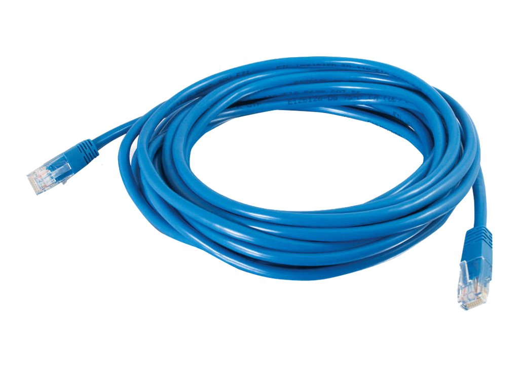 C2G Cat5e Molded Solid Unshielded (UTP) Network Patch Cable - patch cable - 19.8 m - blue