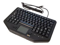Havis Chiclet Style Low-Profile KB-105 Keyboard with touchpad USB US