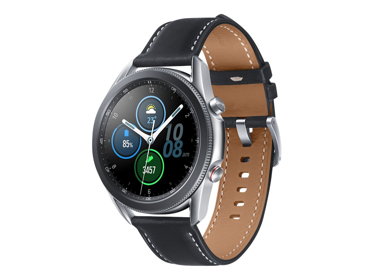 Samsung Galaxy Watch 3 - mystic silver - smart watch with band - 8 GB - not specified