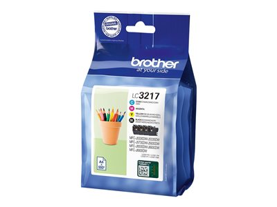 Brother LC 3217 Value Pack Sort Gul Cyan Magenta 550 sider