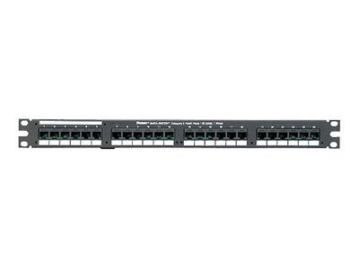 "Panduit Data-Patch 10/100 Base-T Patch Panel - patch panel - 1U - 19""/23"""