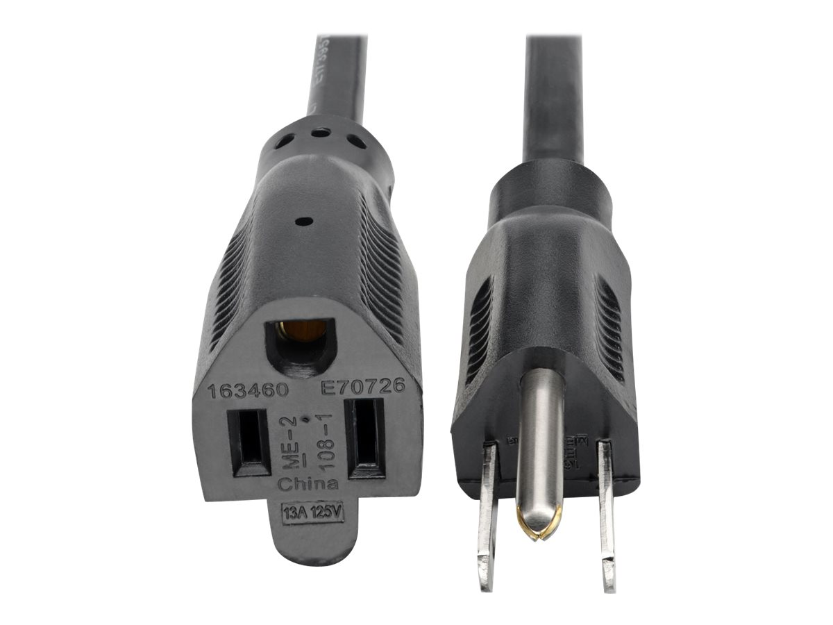 Tripp Lite 25ft Power Cord Extension Cable Standard 16 AWG 5-15P 5-15R 13A 25' - power extension cable - 7.6 m