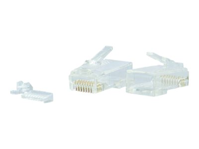 C2G Modular Plug for Round Solid/Stranded Cable Network connector RJ-45 (M) CAT 6