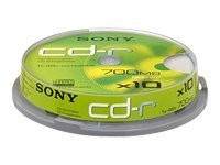Sony CD-R/W et DVD-R 10CDQ80SP