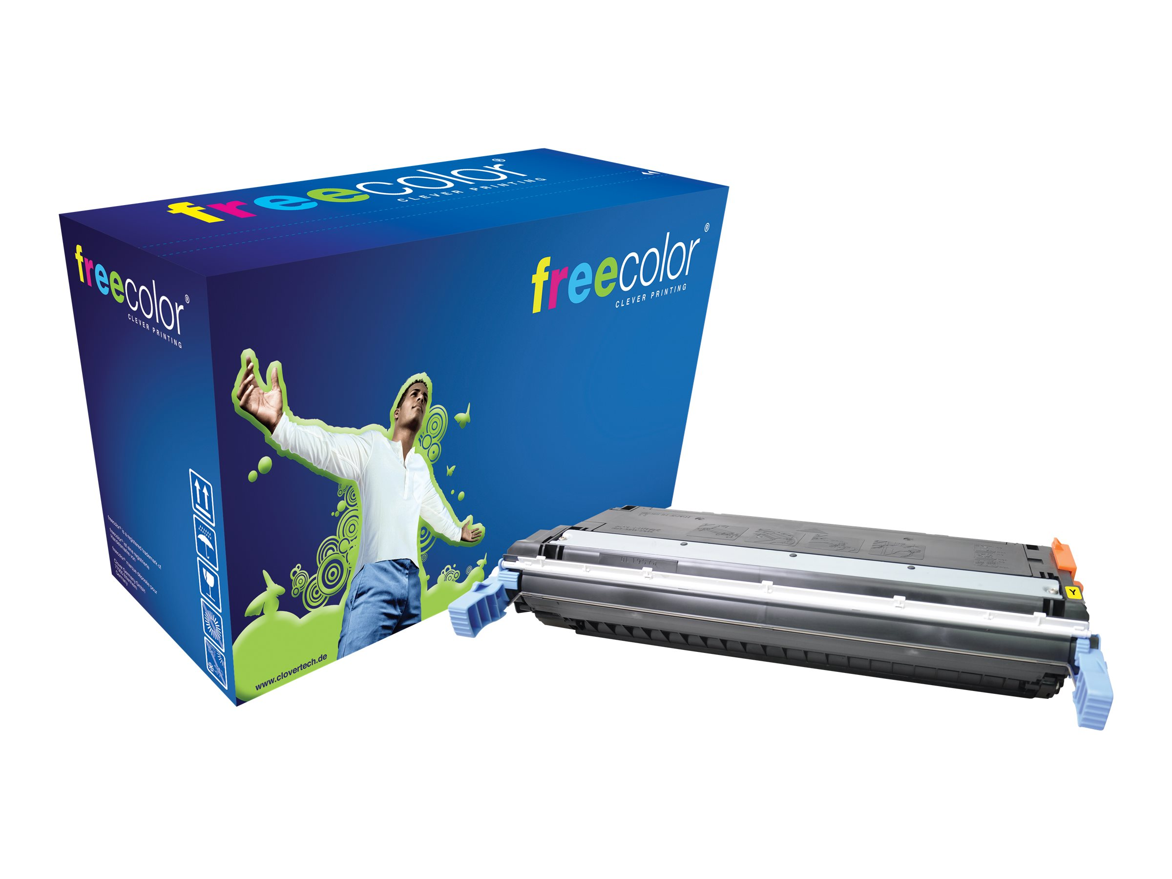 freecolor CLJ CP5525 - 340 g - Gelb - Tonerpatrone (Alternative zu: HP C9732A) - für HP Color LaserJet 5500, 5550