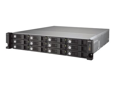 QNAP UX-1200U-RP Hard drive array 12 bays (SATA-600) USB 3.0 (external) rack-mountable -