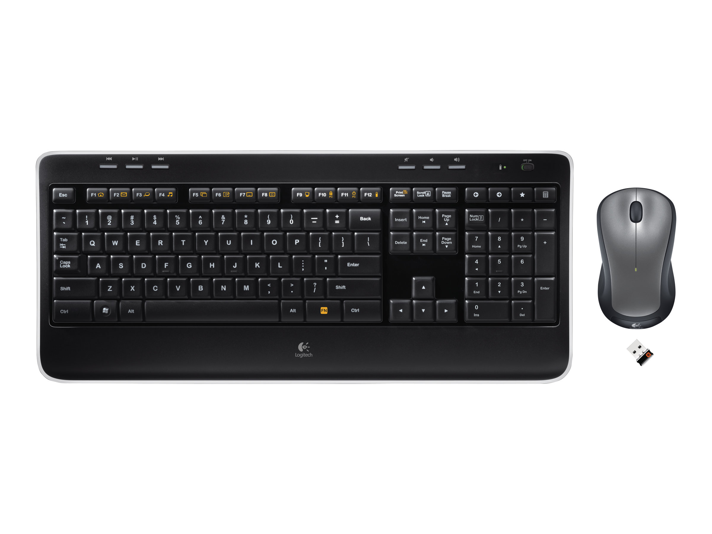Logitech Wireless Combo MK520 - Tastatur-und-Maus-Set - drahtlos - 2.4 GHz - US International / EER