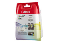 Canon PG 510 / CL-511 Multi pack Sort Farve (cyan, magenta, gul) 300 sider