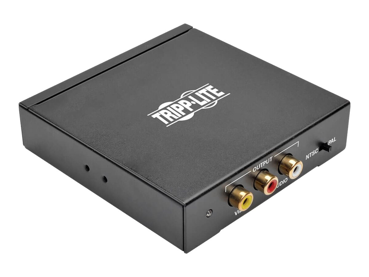 Tripp Lite HDMI to Composite Video with Audio Adapter Converter F/3xF - video converter - black