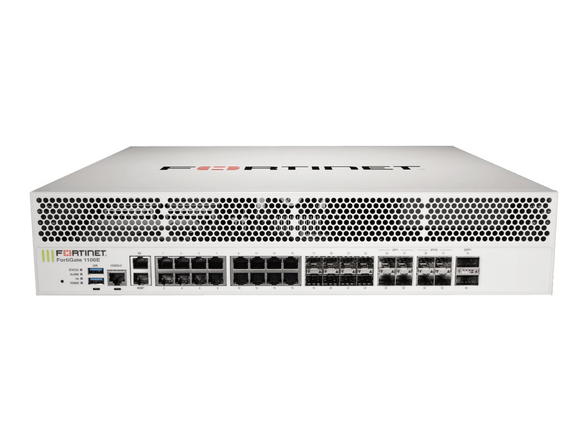 Fortinet FortiGate 1101E - security appliance - with 5 years FortiCare 24X7 Support + 5 years FortiGuard Enterprise Pro…