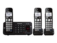 Panasonic KX-TGE243B Cordless phone answering system with caller ID/call waiting