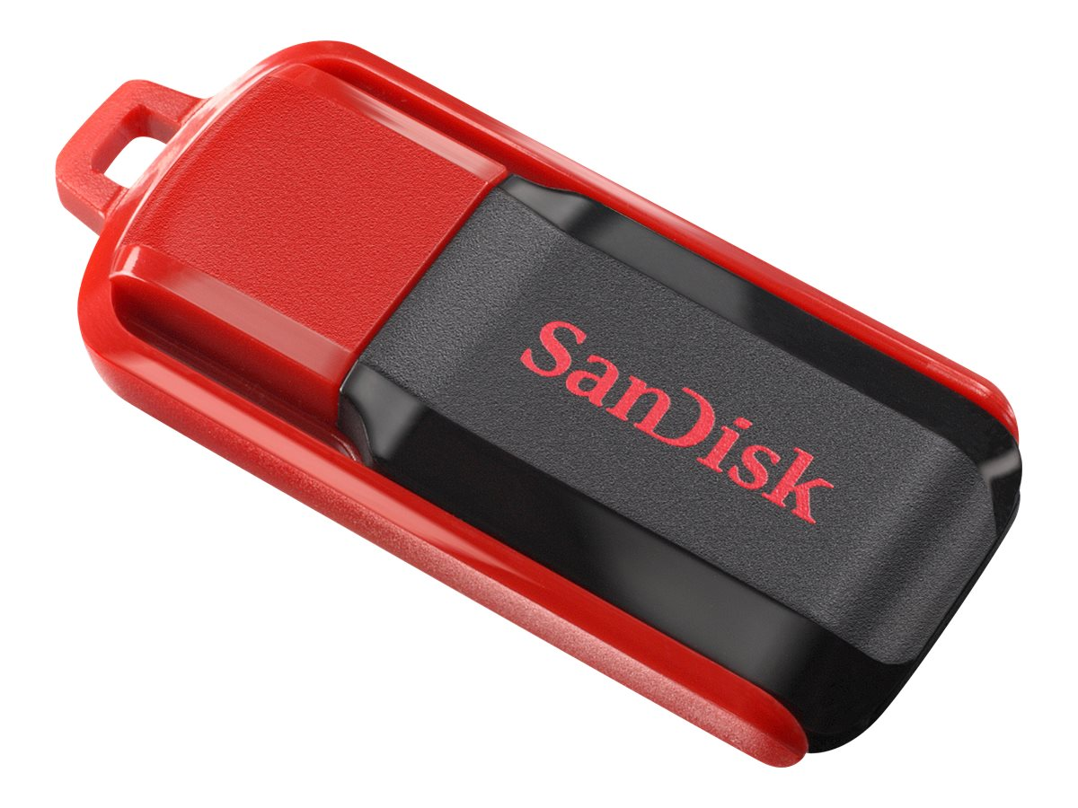 SanDisk Cruzer Switch - USB-Flash-Laufwerk - 64 GB - USB 2.0 - Schwarz, Rot