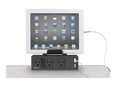 MooreCo Clamp Mount Outlet & USB Charger Power strip AC 125 V output connectors: 3 10