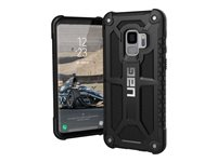 UAG Monarch Series - Back cover for mobile phone - rugged - top-grain leather, alloy metal - black - for Samsung Galaxy S9