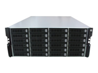 Qsan AegisSAN J100-C424 - Hard drive array - 24 bays (SATA-600 / SAS-2) - SAS 6Gb/s (external) - rack-mountable - 3U