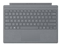 Microsoft Surface Pro Signature Type Cover - Keyboard - with trackpad, accelerometer - backlit - English - North American layout - platinum - commercial - for Surface Pro (Mid 2017), Pro 3, Pro 4