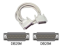 C2G - Parallel cable - DB-25 (M) to DB-25 (M) - 9.1 m