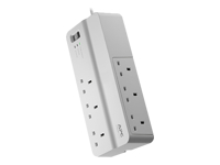 APC SurgeArrest Essential - Surge protector - AC 230 V - 6 Output Connector(s) - United Kingdom - white
