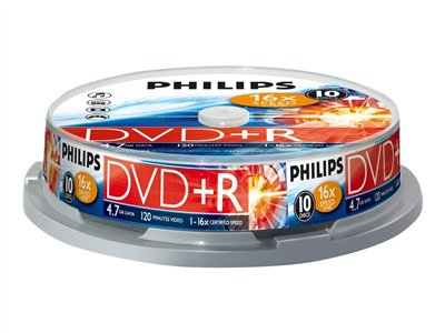 Philips DR4S6B10F 10x DVD+R 4.7GB