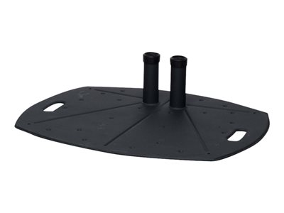 Premier Mounts Mounting component (floor stand base, dual pole clamp VESA adapter) black