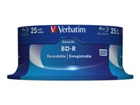 Verbatim DataLife - 25 x BD-R - 25 GB 6x - spindle