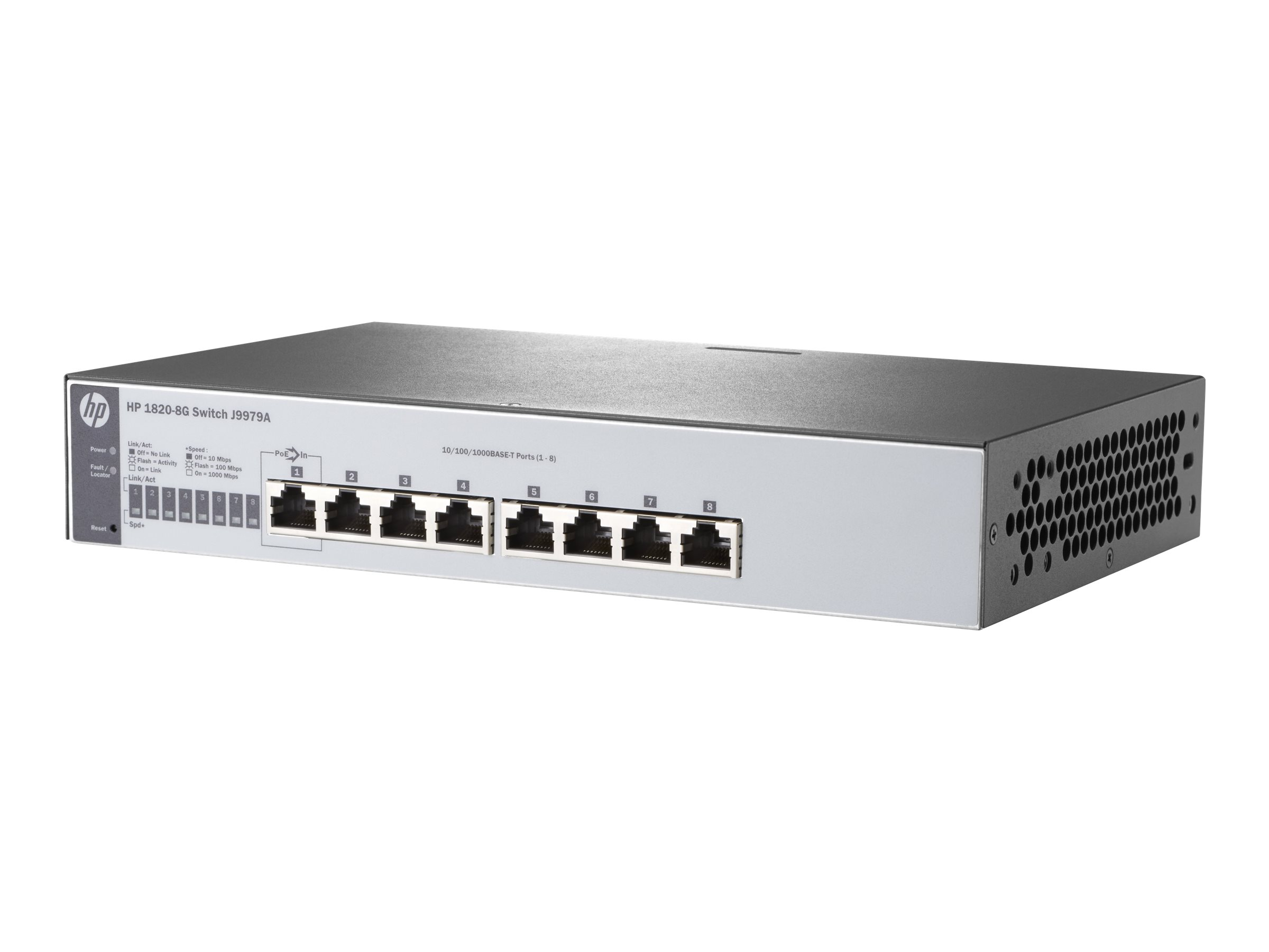 HPE 1820-8G - switch - 8 ports - managed - rack-mountable