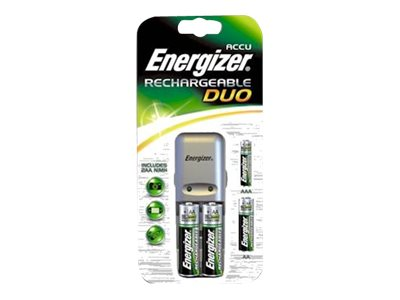 Piles & Chargeurs Energizer Duo Charger chargeur de batteries - 2 x type AA - NiMH