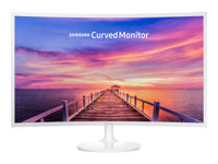 "Samsung CF391 Series C32F391FWU - Écran LED - incurvé - 32"" - 1920 x 1080 Full HD (1080p) - VA - 250 cd/m² - 3000:1 - 4 ms - HDMI, DisplayPort - blanc brillant"