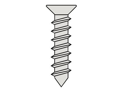 RC - Self-tapping Flat Head Screw 4.2X13mm