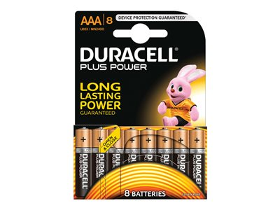 Piles & Chargeurs Duracell Plus Power MN2400 batterie - 8 x type AAA - Alcaline